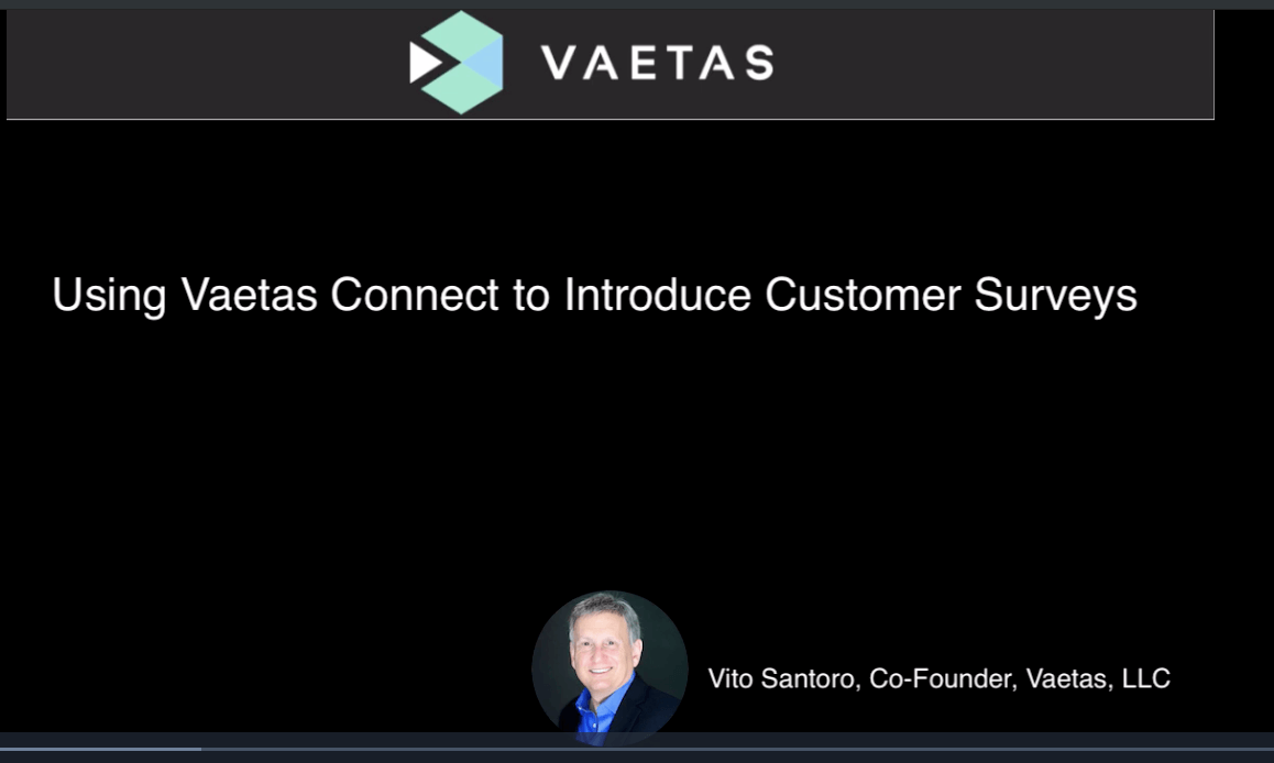 Vaetas Connect Customer Survey